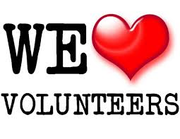 We love volunteers!